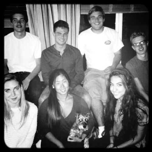 Blackandwhite half of us off to college, half ready to graduate. Long time running. The Gang Thats Me  Cramming