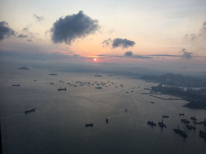 Sightseeing Bay Sunset Sky Scenics Sea Beauty In Nature Nature No People Cloud - Sky Destination Travel Destinations HongKong