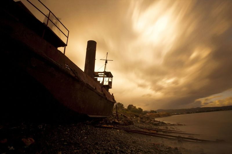 Ghost Ship Cyprus Silhouette