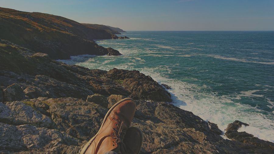 #landscape Hiking Low Section Water Sea Beach Human Leg Wave Relaxation Personal Perspective Sitting Coastline Footwear Shoe Coast Foot Pair Sandal Legs Crossed At Ankle Hiker Ocean Rocky Coastline Canvas Shoe Shoelace Coastal Feature Seascape Things That Go Together
