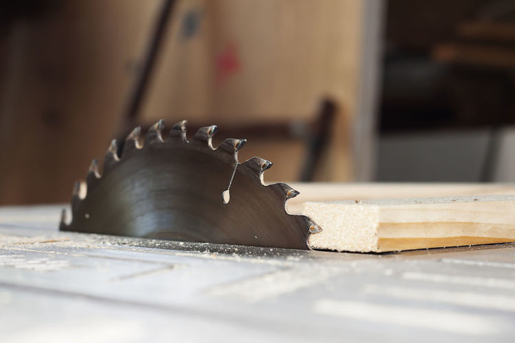 Close-up of circular saw