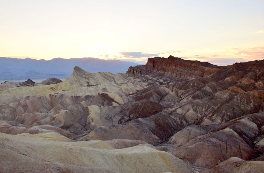 Death Valley National Park Death Valley Death Valley National Park Nature Tranquility Zabriskie Point Landscape Mountain No People Scenics Sky Sunset