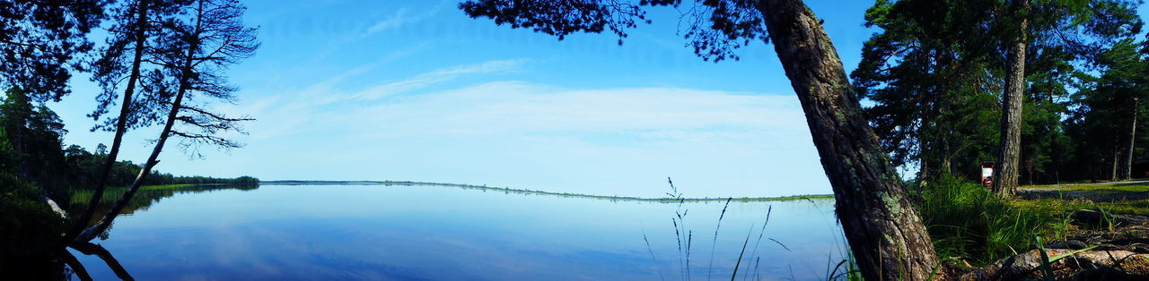 Panoramtwist Tree Sky Water Lake Nature Reflection Outdoors Beauty In Nature Day No People