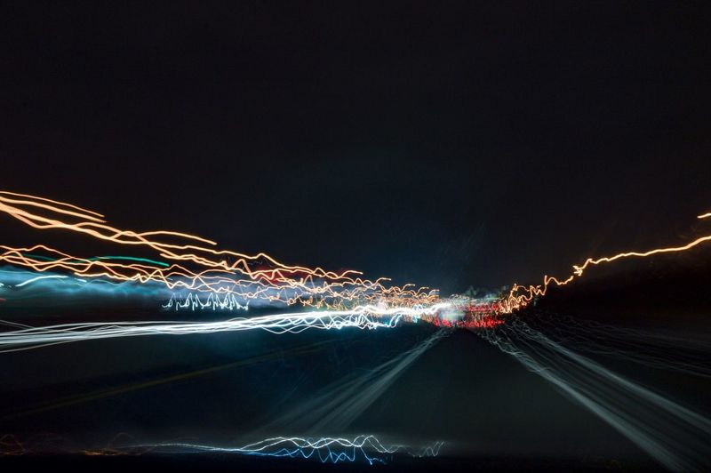 Night rider Stifanibrothers Night Night Light Trail Illuminated Long Exposure Motion Speed Sky Outdoors No People Beauty In Nature Clear Sky Nature Blurred Motion Power In Nature Capture Tomorrow