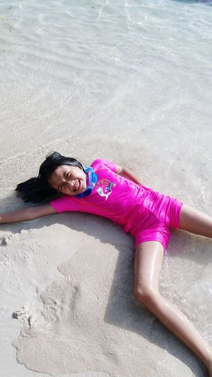 Sand One Person Day Beach Fun Child One Girl Only AyeEm Philippines  Summertime Phone Camera