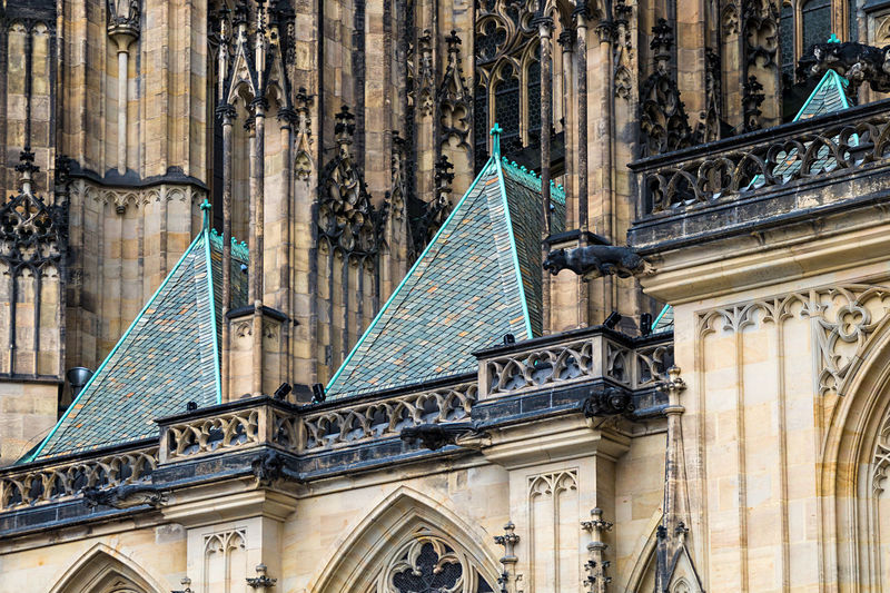Architecture Building Exterior Built Structure Cathedral City Close-up Day Detail Myneighborhood Nature No People Outdoors Politics And Government Prague Roof St. Veits Dom St. Vitus Cathedral Travel Destinations Turqoise