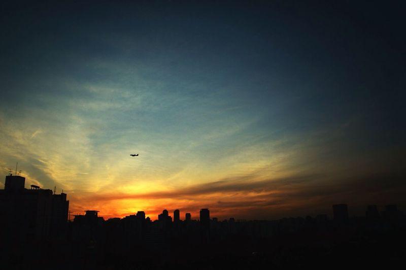 Urban Landscape Urban Sunset Silhouettes Sao Paulo - Brazil Clouds And Sky Sunset Landscape Cityscapes Silhouette Urban Escape