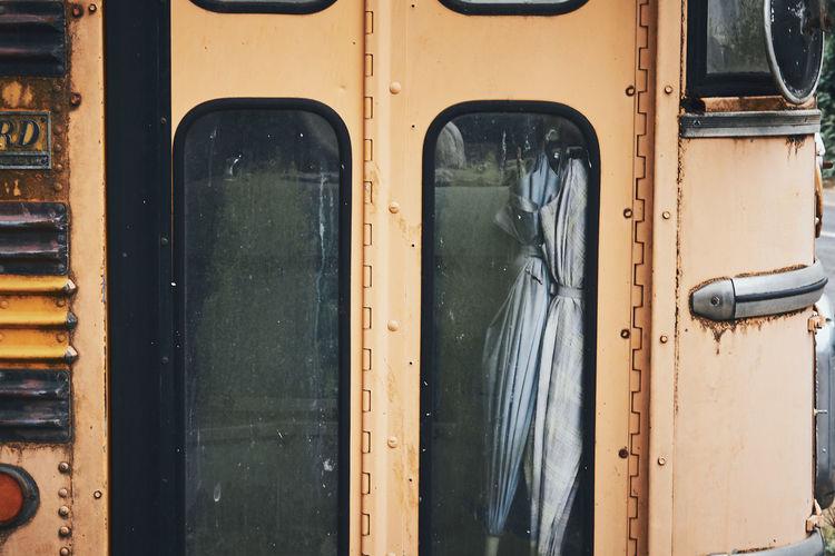 Full frame shot of old train