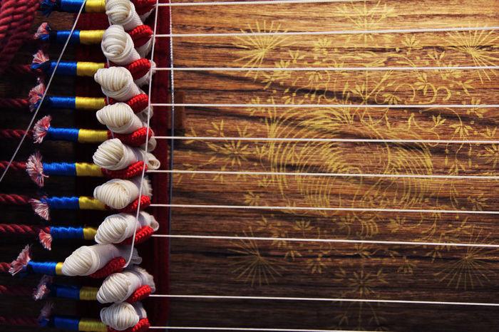 전주 무형유산원 Antique Mark Motif  Tradition Close-up Display Exhibition Gayageum Heritage Illustration Inside Instrument Intaglio Multi Colored Museum National Museum Traditional 10