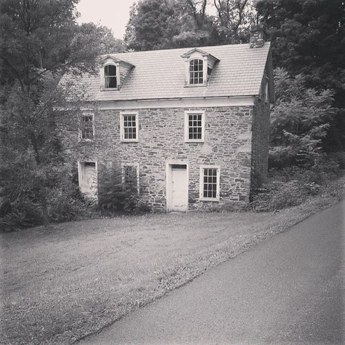 Bucks County  Old House Black And White Farmhouse Entryway Ivy Suburb Cottage Village Creeper Overgrown Detached House Villa