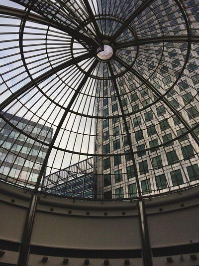 Dome Canary Wharf Canada Square Skyscraper Glass