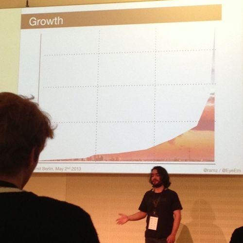 @eyeem growth backed with AWS. Awesome! EyeEm Numbers Amazon Aws Summit 2013