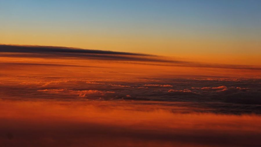 Aerial view of dramatic sky during sunset
