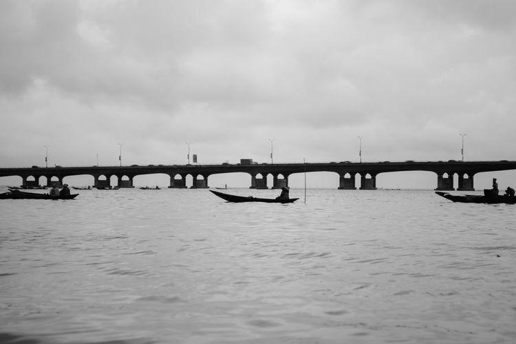 Lagos bridge Water Connection Architecture Bridge Bridge - Man Made Structure Transportation Sky Travel Destinations Nature Cloud - Sky Built Structure Outdoors River Pier No People Day