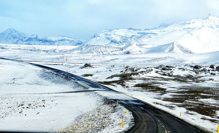 Lonely road, Iceland EyeEm Best Shots - Nature EyeEm Nature Lover Travel Destinations Europe Travelling EyeEm Selects Travelphotography EyeEm Best Shots EyeEm Gallery Travel Snow Cold Temperature Winter Scenics - Nature Mountain Beauty In Nature Environment Transportation Nature Sky Car No People Frozen Mode Of Transportation Water Snowcapped Mountain Tranquility Ice Outdoors