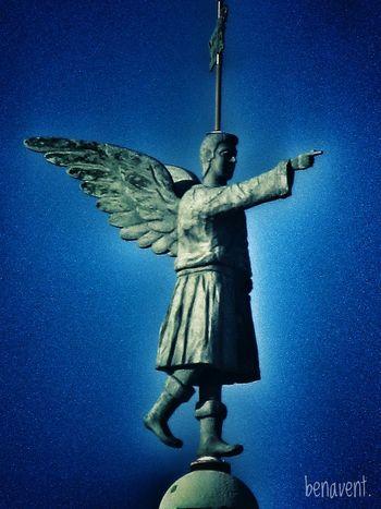 Vilanova I La Geltru Statue Religion Campanar  Esglesia Campanario Eyemphotography Eyem Gallery No People Statue Myhometown Angel Angel Statue Angel Wings