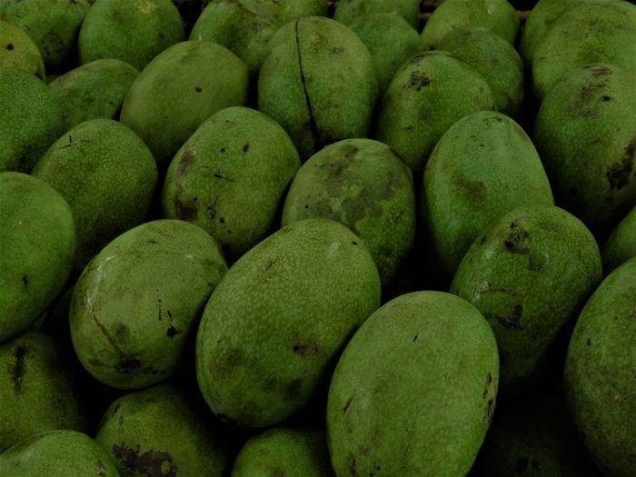 Full frame shot of mangoes in market