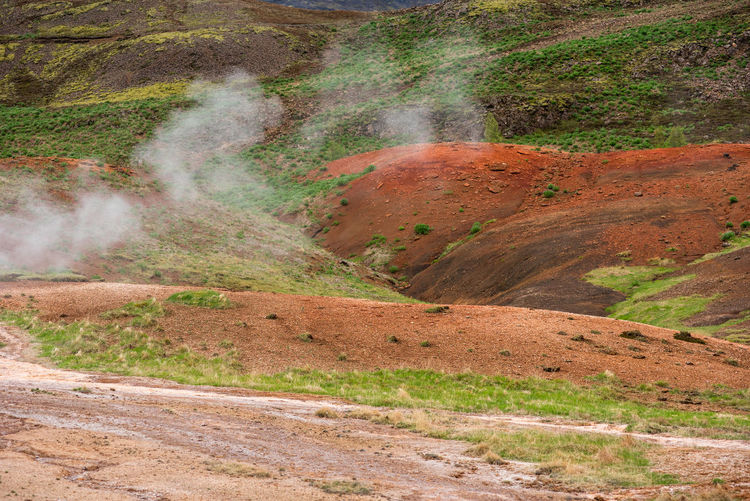 Wonderful Icelandic landscape, nature in the highland mountains in late afternoon lights Iceland Icelandic Emanation Reykjadalur Hot Spring Hveragerdi Geyser Geysir Steam Nature Geology Thermal Landscape Water Natural Fumarola Hot Volcano Geothermal  Smoke Rock Mountain Ecology Hot Springs Fog Energy Volcanic  Hafnarfjordur Geological Foggy Spring Mist Fumare Geothermal Energy Heat Fumarole Mud Eruption Lava Mineral Power Smell Caldera Active Crater Sulphur Steaming Misty Ground Hot Water Environment Day Land No People Non-urban Scene Outdoors Scenics - Nature Beauty In Nature Power In Nature