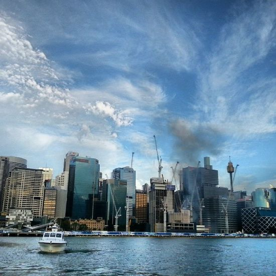 Barangaroo, a few hours after the fire Barangaroo Instagood Ilovesydney Seeaustralia Australia summer Sydney fire seesydney