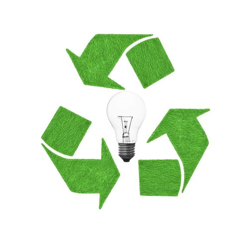 Green Color Environmental Conservation Computer Icon Light Bulb Symbol Environment Cut Out Equipment White Background Environmental Issues Garbage Inspiration Fuel And Power Generation Technology Efficiency Internet Modern No People Recycle Reuseable Conservation Concept Technology Lightbulb Ecology