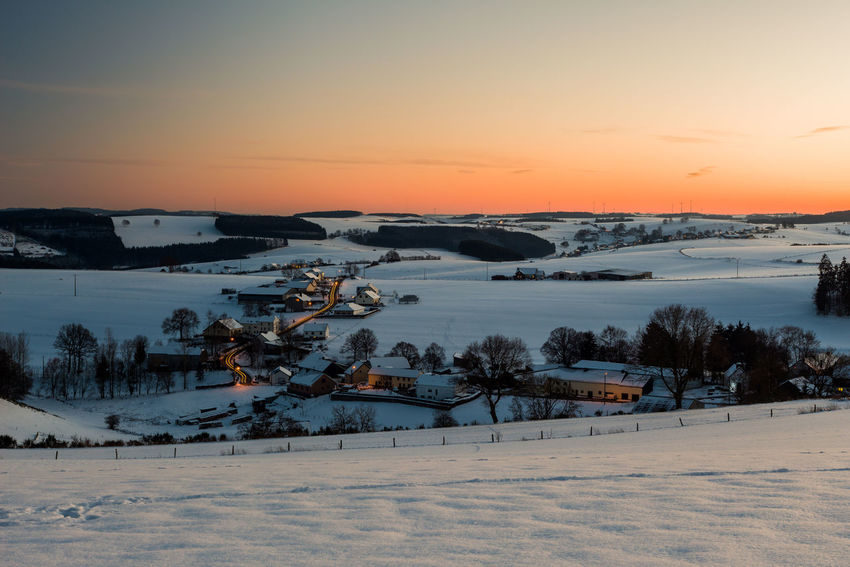 Sunset over winter landscape Beauty In Nature Cold Temperature Day Environment EyeEm Nature Lover EyeEmNewHere Landscape Mountain Nature Nature Photography Nature_collection No People Outdoors Scenics Sky Snow Snow ❄ Snowland Snowlandscape Sunset Tree Warm Winter