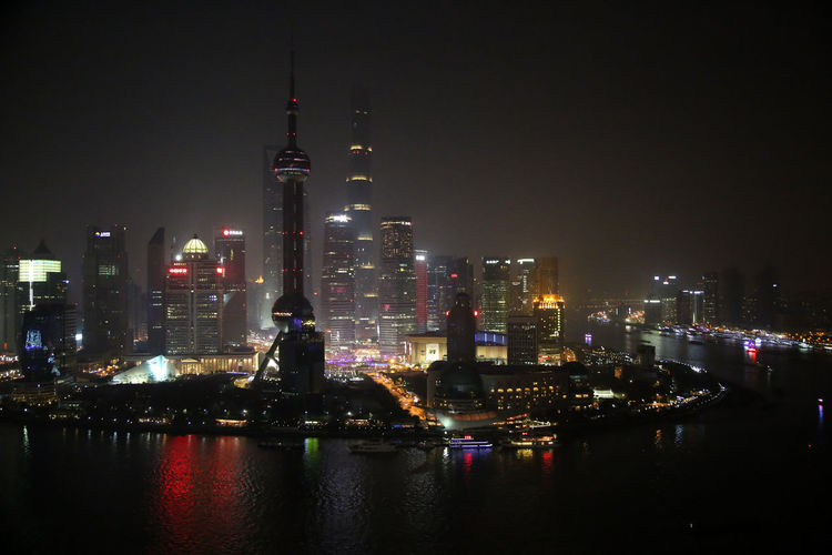 Shanghai, China Shanghai Pudong Huangpu River Financial District  Nightphotography Nightlife