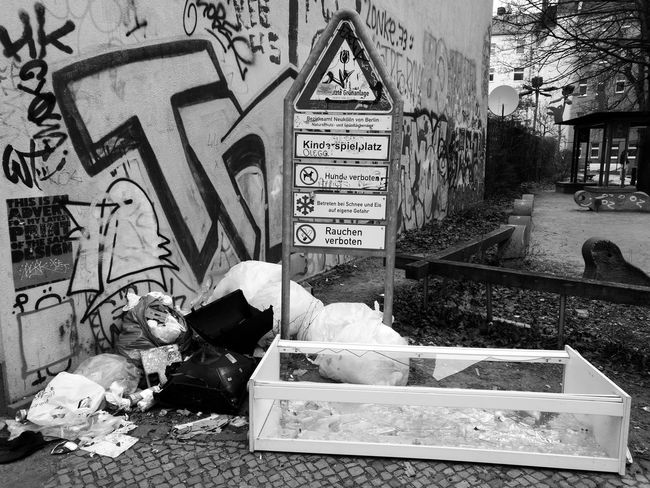 Berlin Berlin Photography Berliner Ansichten Day Dreck Garbage Müll Neukölln Social Issues Street Text Waste Wasted