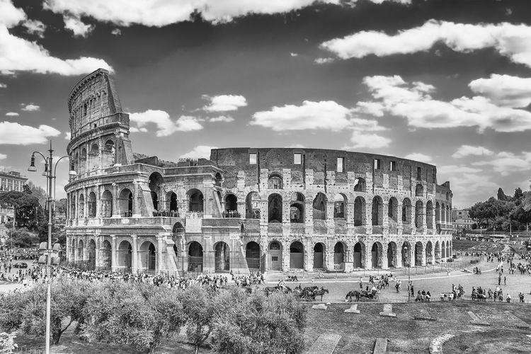 Ruins of colosseum