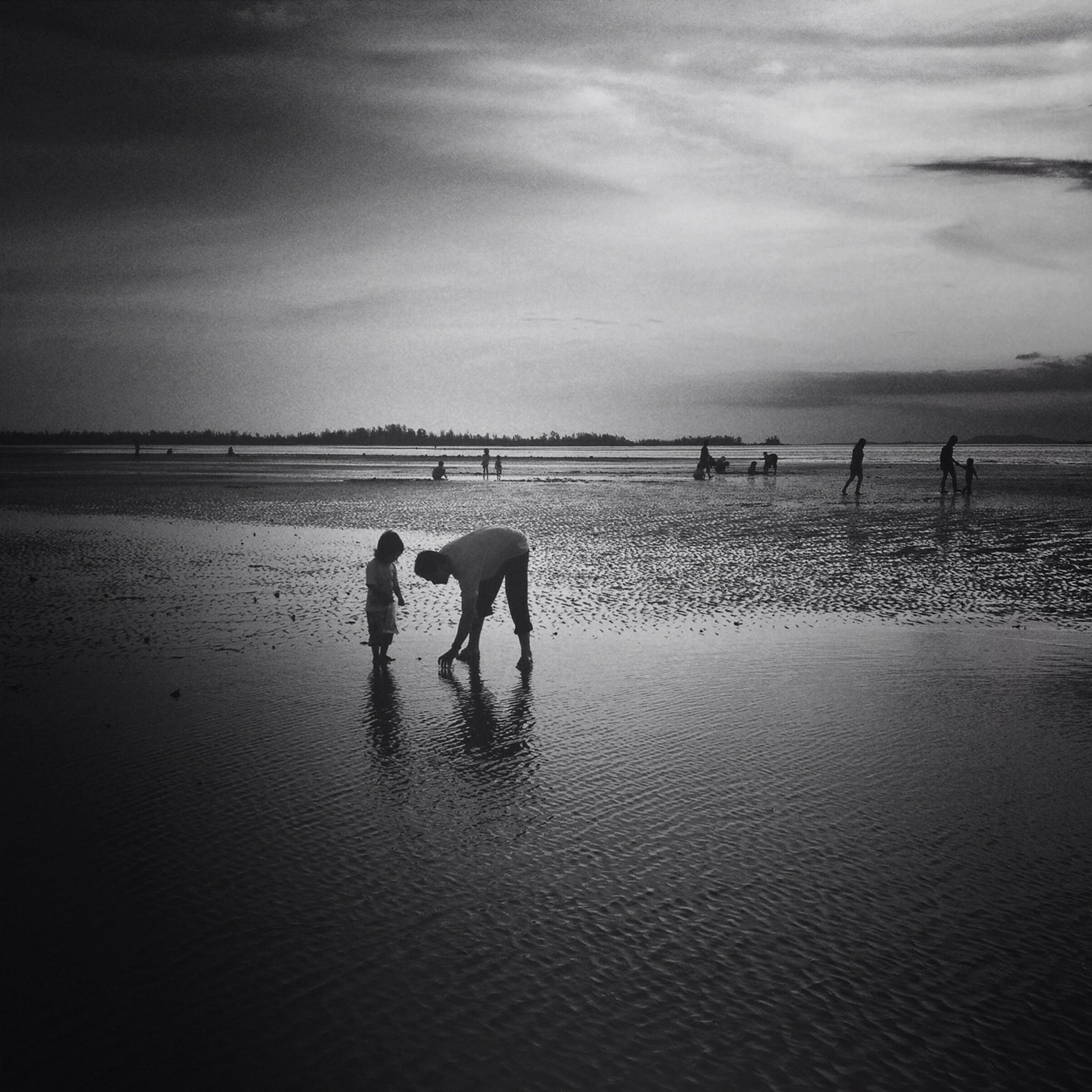 water, sea, domestic animals, beach, animal themes, sky, mammal, dog, horizon over water, shore, pets, cloud - sky, sand, nature, lifestyles, one animal, men, togetherness, leisure activity