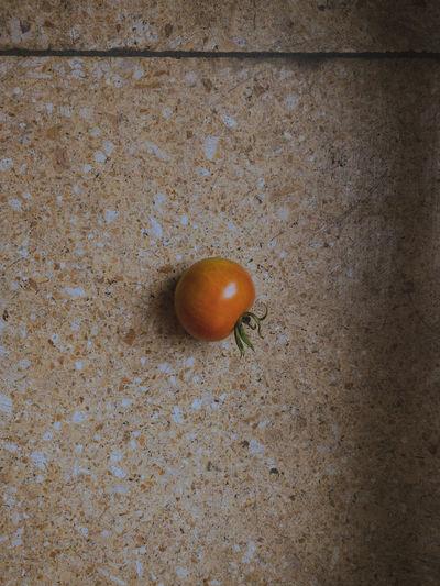 High angle view of orange on ground