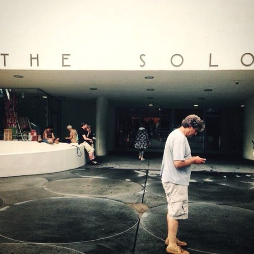 New York City Museum Guggenheim Lonely Perfect Match And why is he solo? Because starring on is smartphone every time.