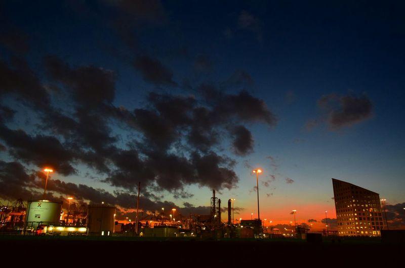Maasvlakte Oil Terminal Night Buildings Netherlands Cities At Night 43 Golden Moments