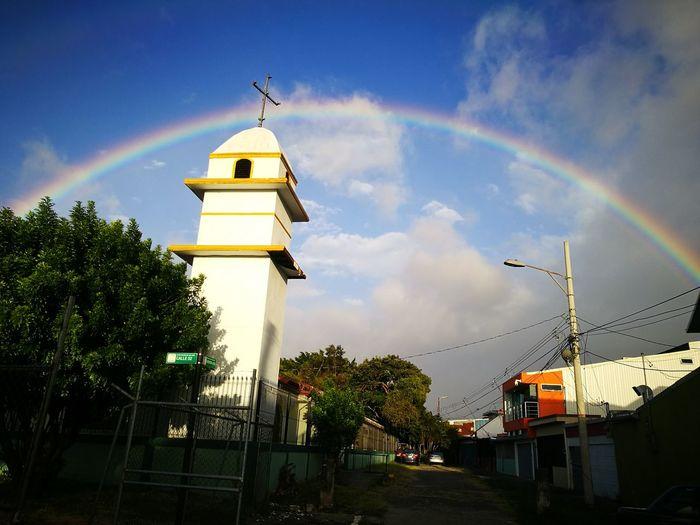 Cloud - Sky Sky Architecture Rainbow Tree Outdoors Multi Colored