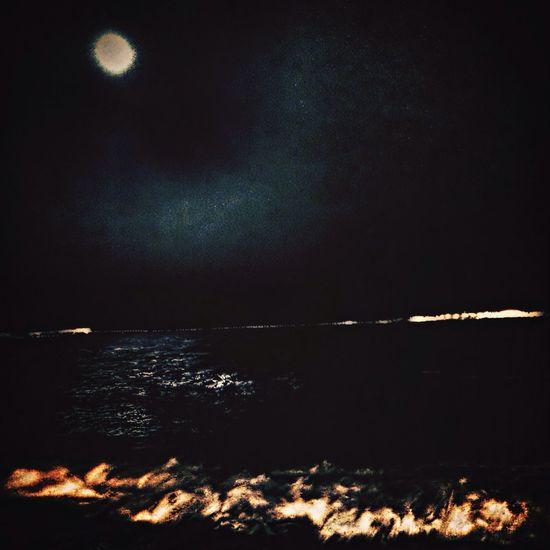 Moonlight Sea Swimming Traveling