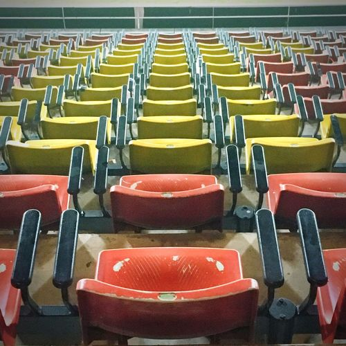 Behind the cheer In A Row Chair Stadium Football Stadium Soccor Football No People Folding Chair Game Score Match - Sport Sport Match Team Outdoor Seat