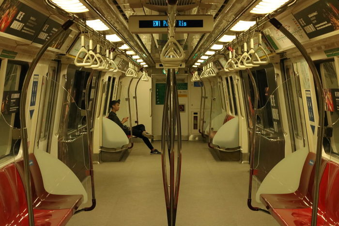 The last train Alone Cabin Mrt Night Train Normal Quiet Singapore Train The Color Of Technology Fresh On Eyeem  People And Places Overnight Success