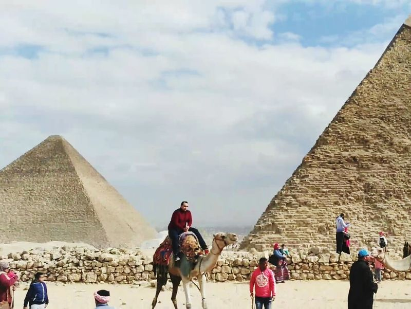Built Structure Architecture Cultures Outdoors Sky Travel Travel Destinations Cairo Egypt Pyramids Fun Day