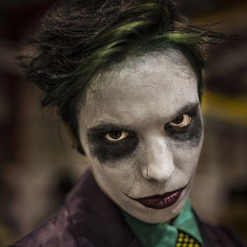 Smile Batman Joker Darkknight Comicon cosplay makeup carnival