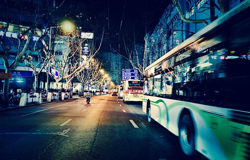 Shanghai GRlll Ricoh Transportation Mode Of Transportation Motor Vehicle Car City Land Vehicle Night Road Building Exterior Architecture The Way Forward Windshield Motion Vehicle Interior Illuminated Street Built Structure Direction Wet Nature