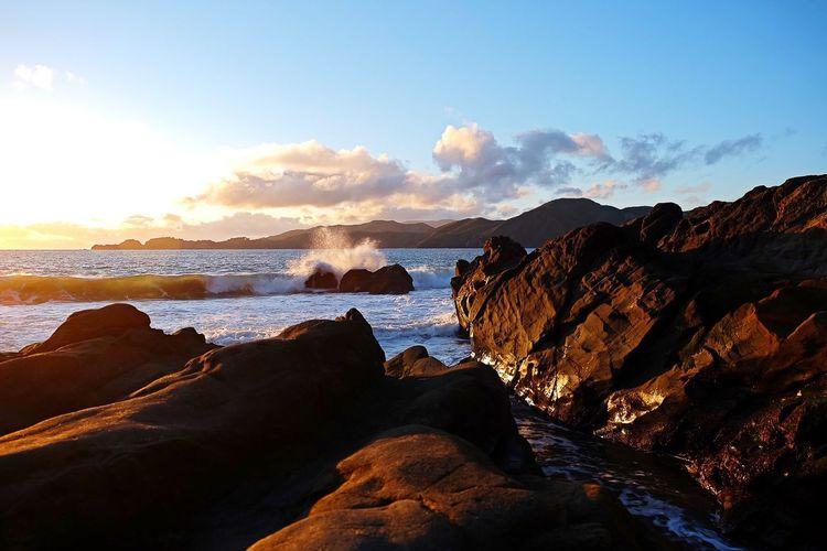 Beach Sunset Ocean Water