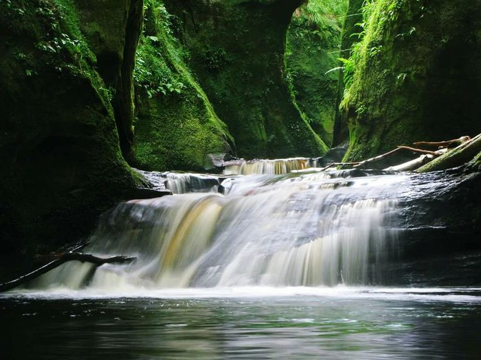 Waterfalls Scotland Devil's Pulpit Hidden River Gorge Glen Finnich Glen Glasgow  Loch Lomond Magical Great Outdoors Landscape