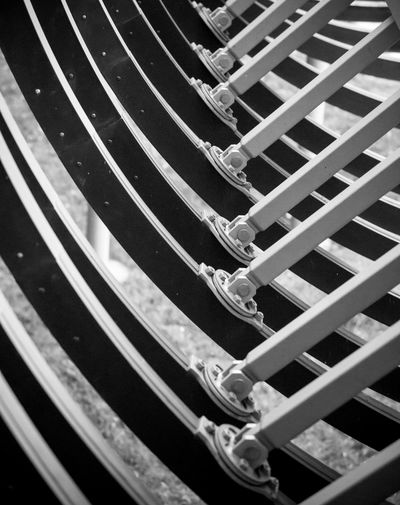"""Die Rehberger Brücke """"Slinky springs to fame"""" in Oberhausen Black & White Oberhausen Rehberger Brücke SLINKY SPRINGS TO FAME Tobias Rehberger Architecture Backgrounds Blackandwhite Close-up Day Detail Full Frame Industrial Culture No People Pattern Steel Structure The Graphic City"""