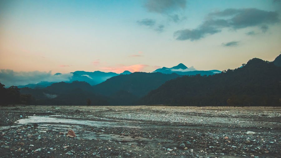 Beauty In Nature Day Landscape Mountain Mountain Range Nature No People Outdoors Sky Sunset Water first eyeem photo EyeEmNewHere Be. Ready.