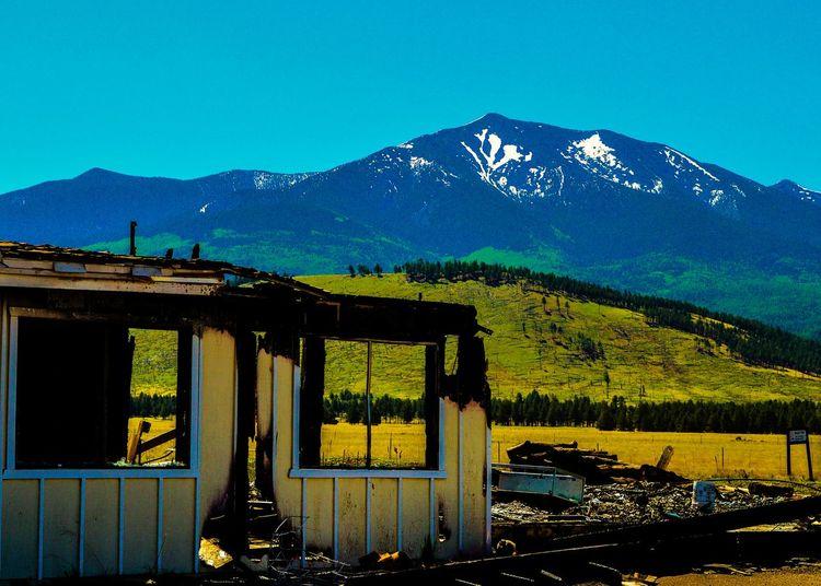 Reclamation Mountain Humphrey's Peak Flagstaff Arizona Landscape_photography Fire