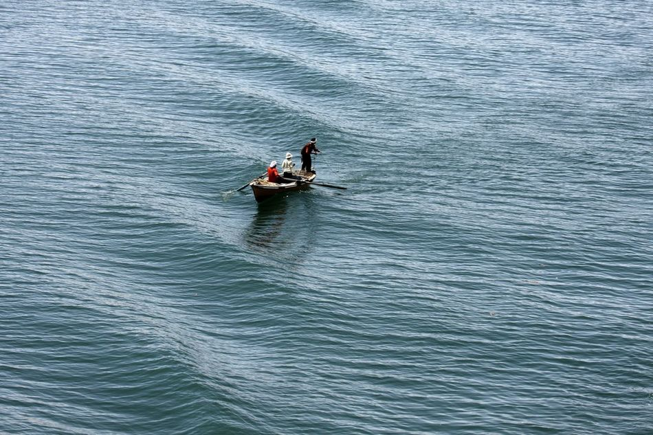 Adventure Day Fisher Men Fishing Boat High Angle View Nature Nautical Vessel Outdoors Paddleboarding People Two People Water Waterfront