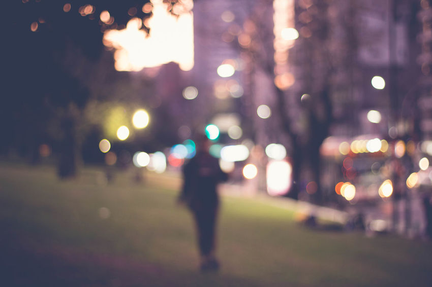 Blurred City City Life Defocused Glowing Illuminated Lens Flare Nature Outdoors