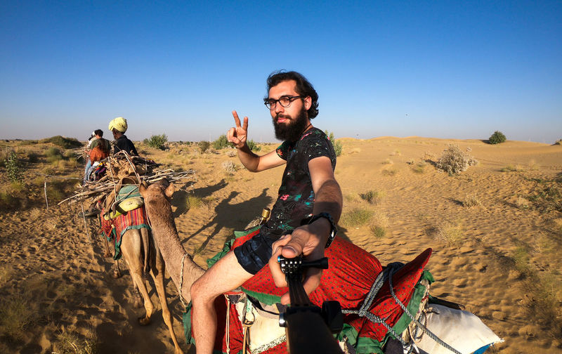 Desert India Sheepherd Travel Adventure Arid Climate Beard Camel Clear Sky Desert Jaisalmer Landscape Obrigado Outdoors Rajasthan Sand Sand Dune Sheep Sky Sunset Thar Desert Vacations