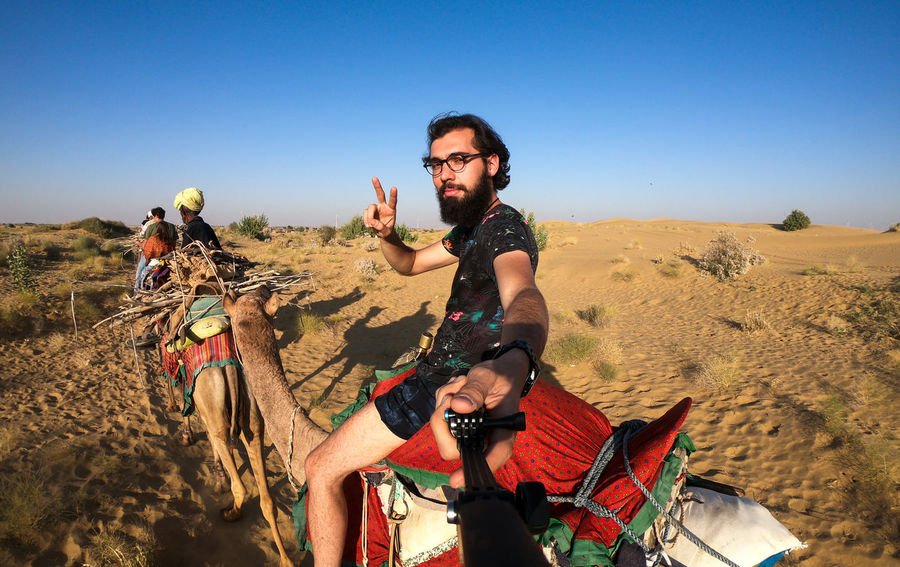 Desert India Sheepherd Travel Adventure Arid Climate Beard Camel Clear Sky Desert Jaisalmer Landscape Obrigado Outdoors Rajasthan Sand Sand Dune Sheep Sky Sunset Thar Desert Vacations