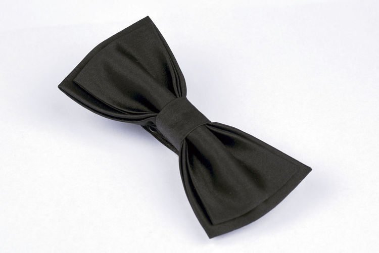 Accessories Apparel Black Bow Tie Close-up Cloth Clothes Day Fashion Indoors  Men Clothing Men Style No People Style Textile Tie Ties White Background