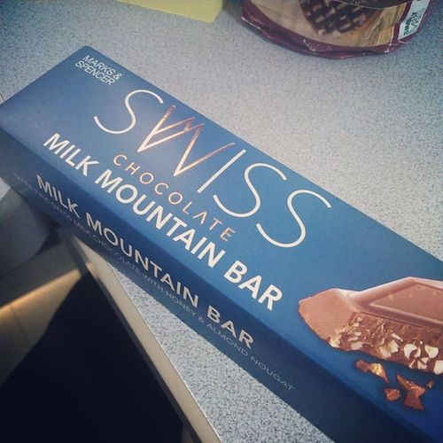 thank you for this ChocolateLove M &s Milkmountainbar Swiss almond